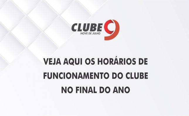 HORÁRIOS DE FUNCIONAMENTO NO FINAL DO ANO