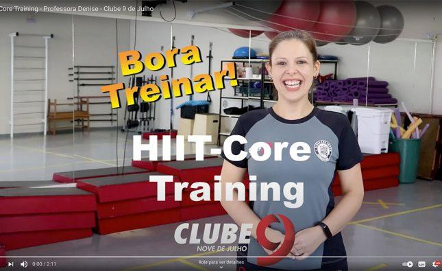 HIIT/CORE TRAINING – PROFª Denise – Clube 9